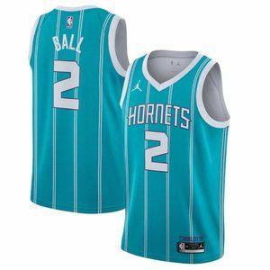 ⚊Men's 2# Charlotte Hornets LaMelo Ball NBA Jer